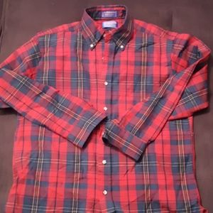 Pendleton men's plaid wool button up shirt M